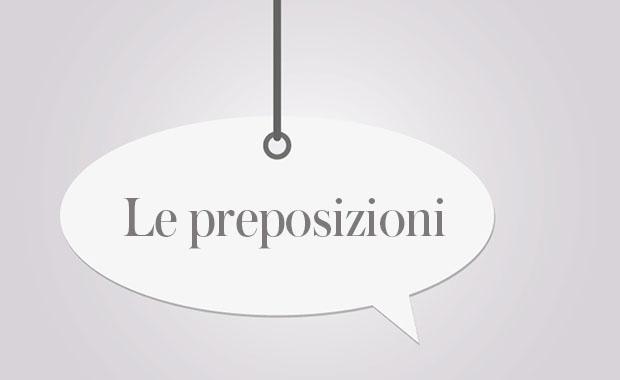Die italienischen Präpositionen | Adesso